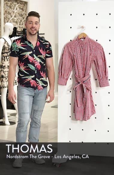 Stripe Tie Waist Shirtdress, sales video thumbnail