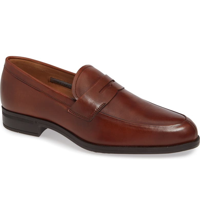 VINCE CAMUTO Iggi Penny Loafer, Main, color, COGNAC LEATHER