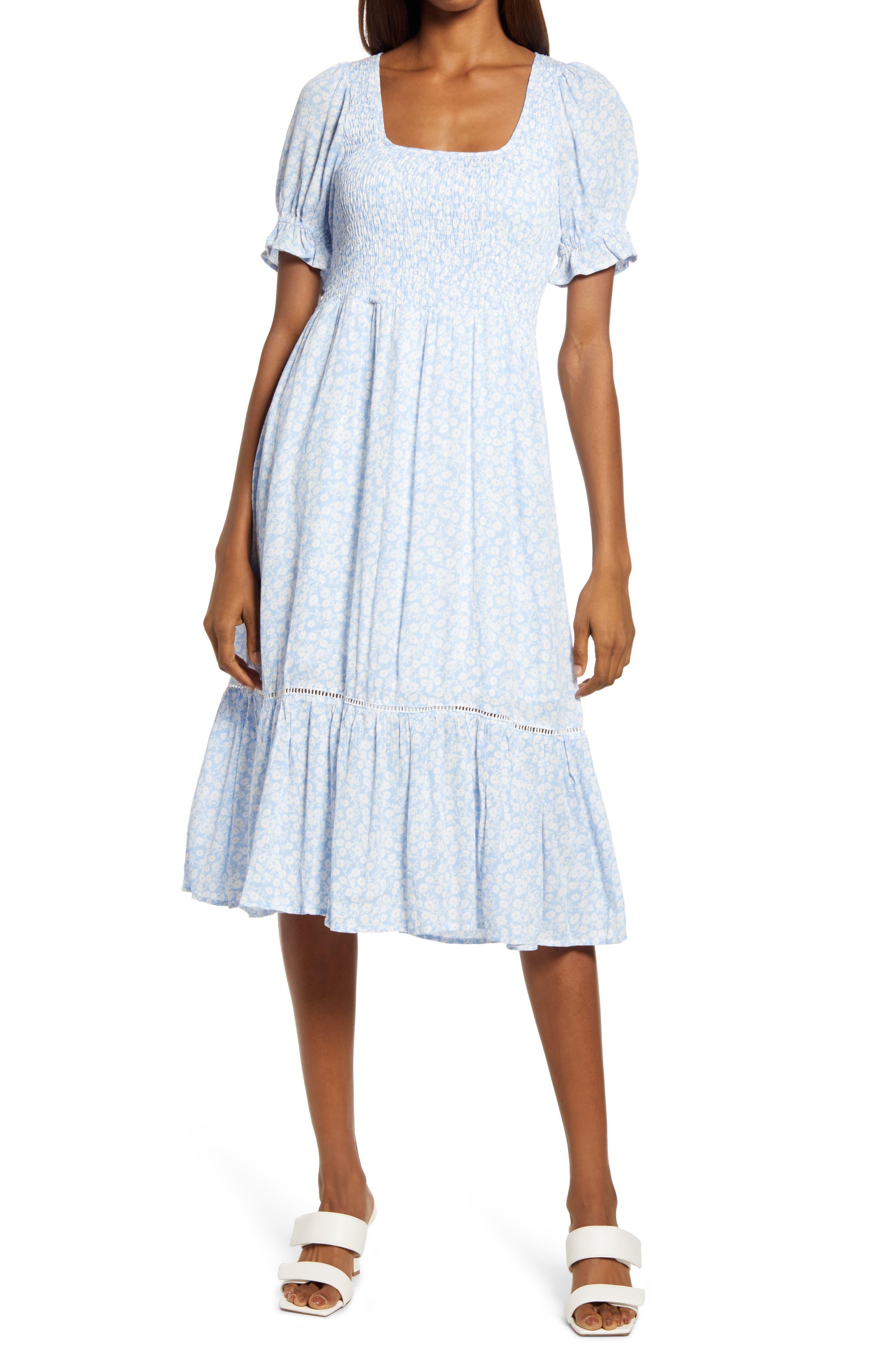 Women's Lost + Wander Sweet Summer Daze Smocked Floral A-Line Dress
