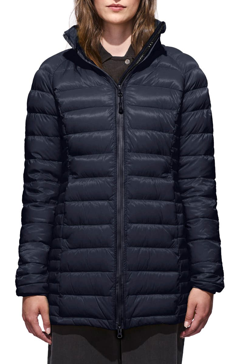 CANADA GOOSE 'Brookvale' Hooded Quilted Down Coat, Main, color, ADMIRAL BLUE/ BLACK