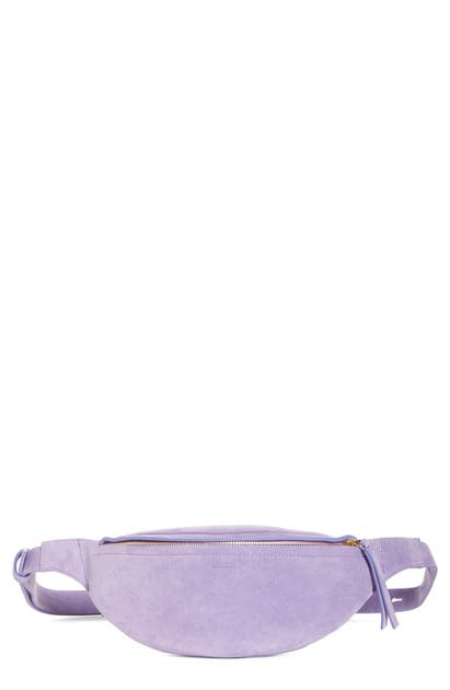 Nanushka Belt LUBA SUEDE BELT BAG - PURPLE