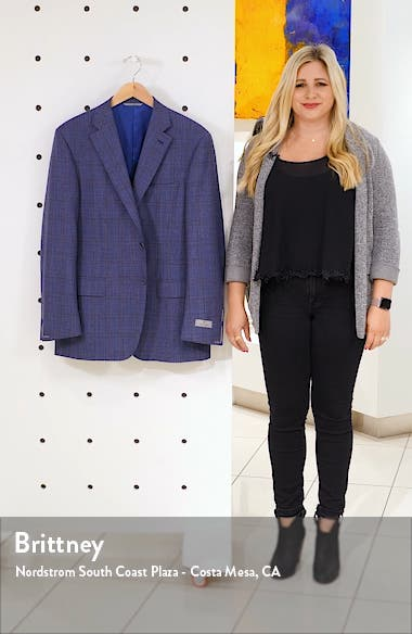 Siena Soft Regular Fit Plaid Wool Sport Coat, sales video thumbnail