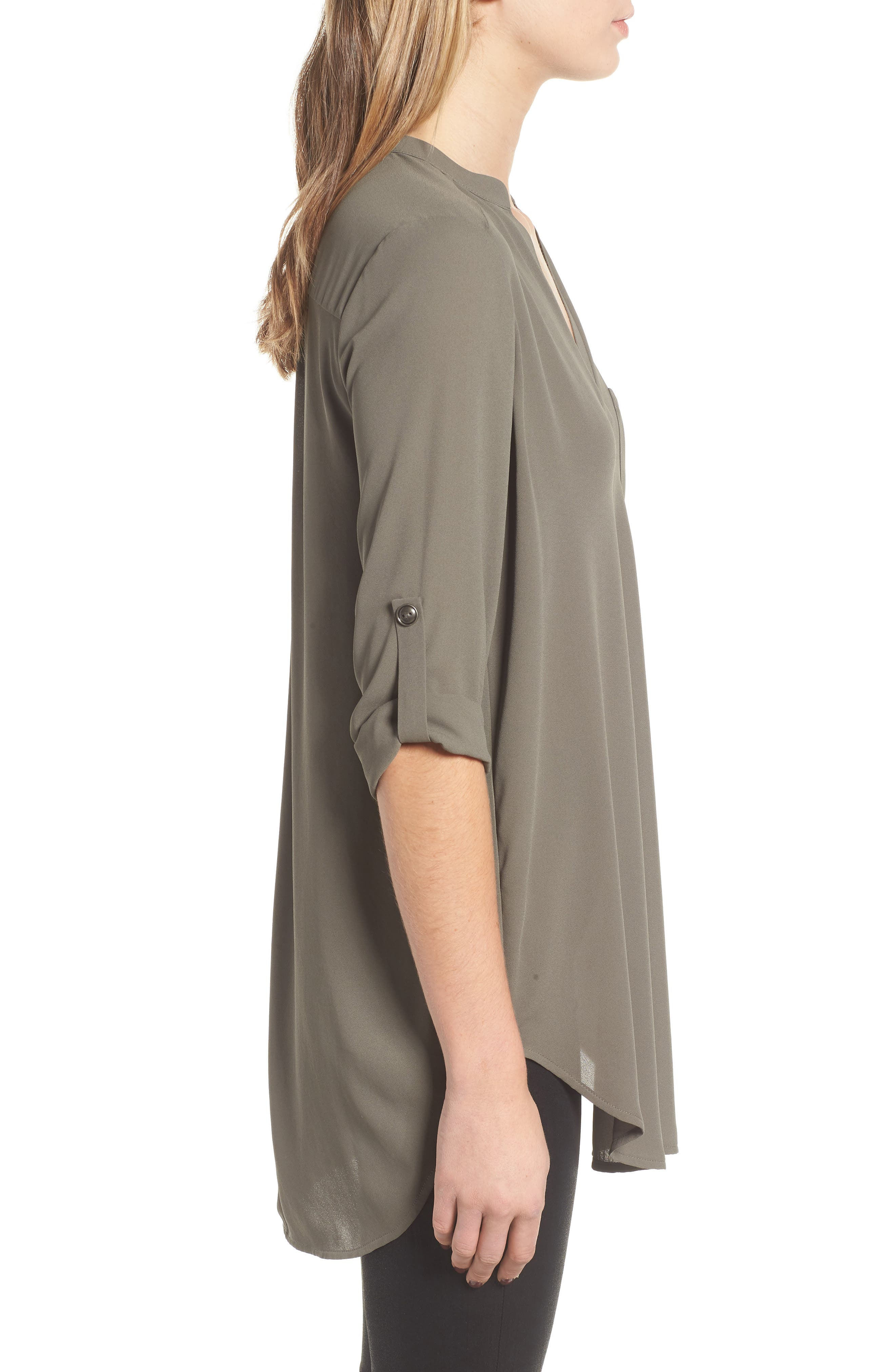 ,                             Perfect Roll Tab Sleeve Tunic,                             Alternate thumbnail 53, color,                             301