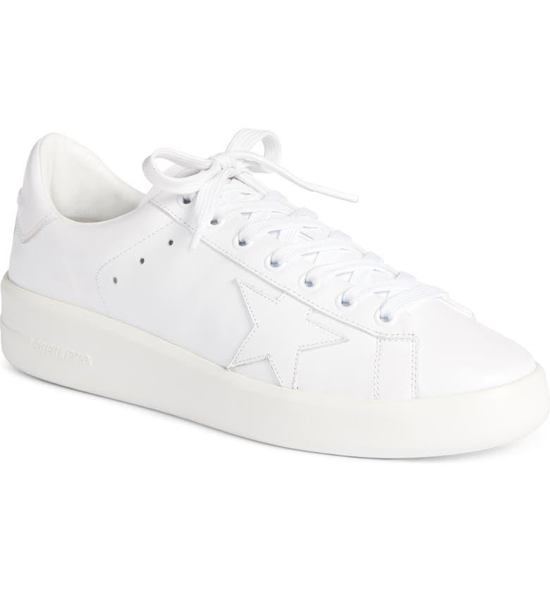 GOLDEN GOOSE PURESTAR Low Top Sneaker, Main, color, WHITE