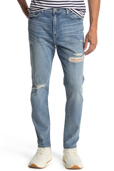 Image of True Religion Mick No Flap Distressed Straight Leg Jeans