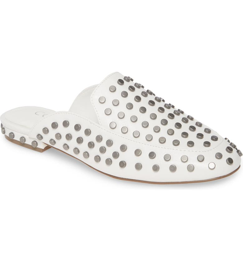 COCONUTS BY MATISSE Kitty Studded Loafer Mule, Main, color, WHITE