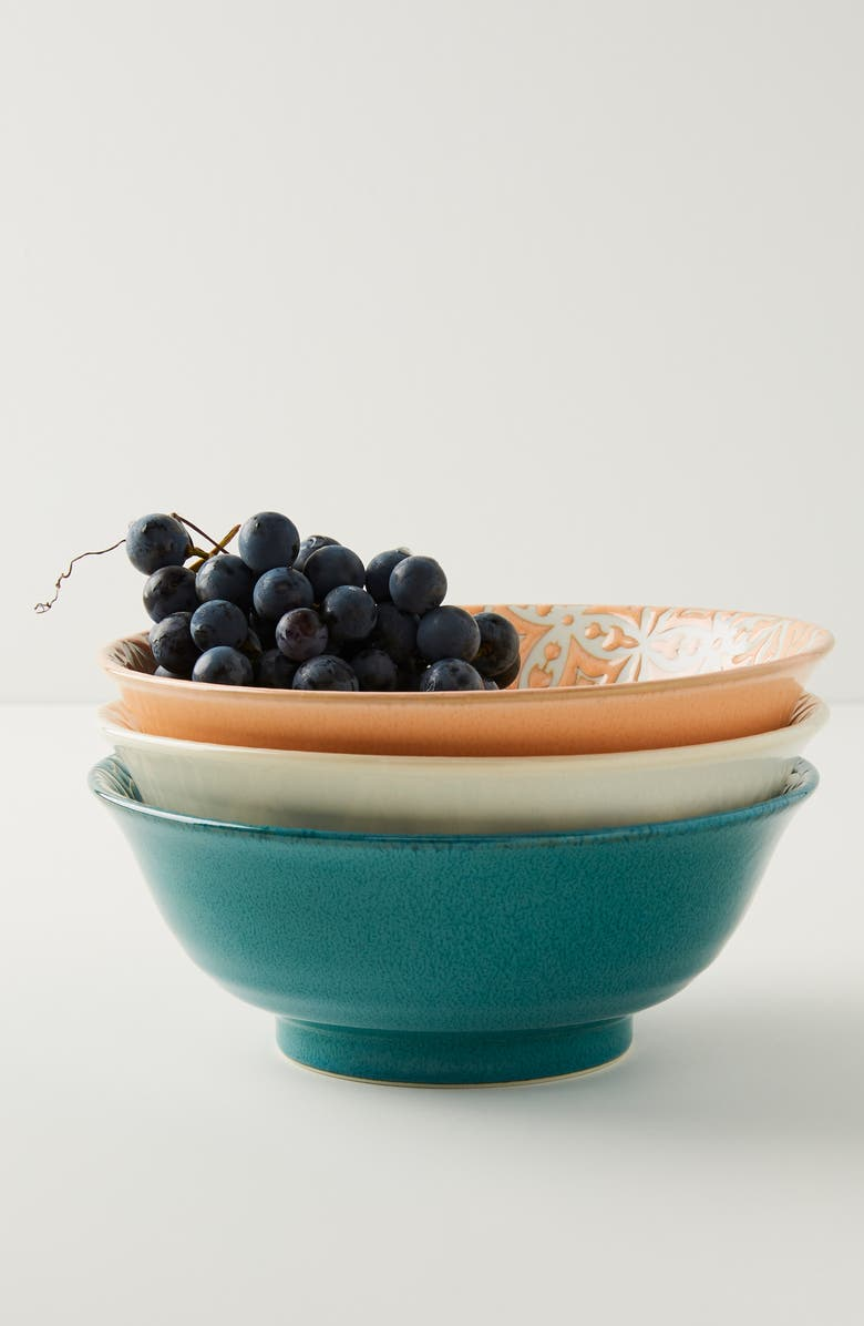 ANTHROPOLOGIE Morocco Bowl, Main, color, WHITE