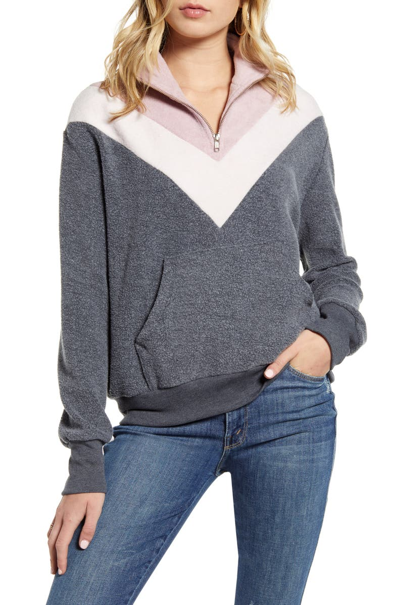 WILDFOX Soto Teddy Bear Fleece Pullover, Main, color, 020