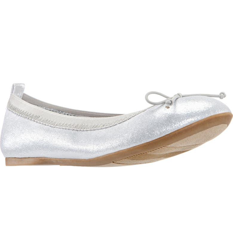 NINA Esther Ballet Flat, Main, color, SILVER SHIMMER