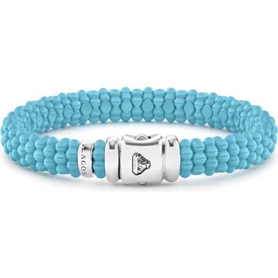 Lagos Blue Caviar Ceramic Rope Bracelet