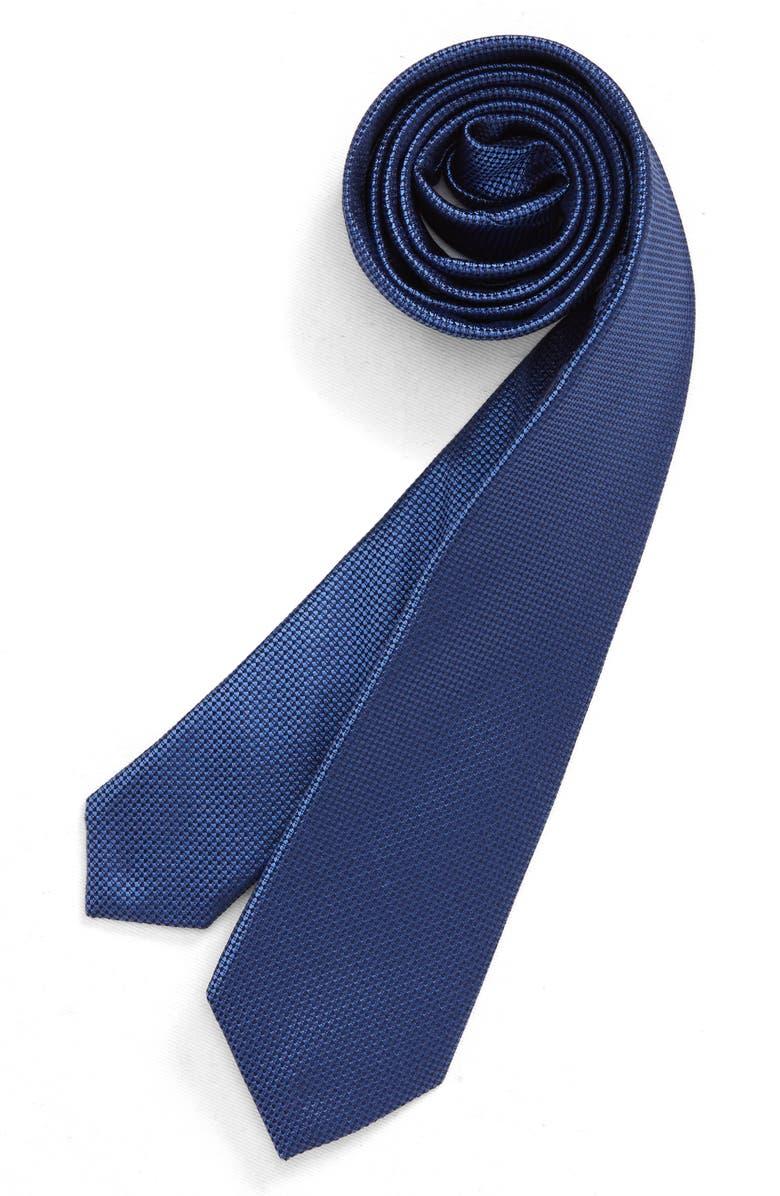 NORDSTROM Mason Geo Silk Tie, Main, color, BLUE