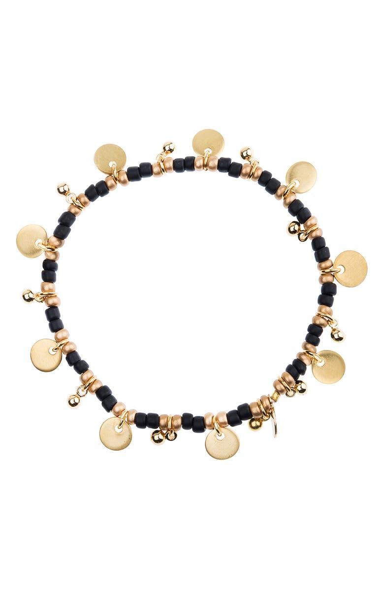 SHASHI Lilu Charm Bracelet, Main, color, BLACK