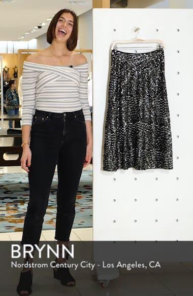 Sequin Midi Skirt, sales video thumbnail