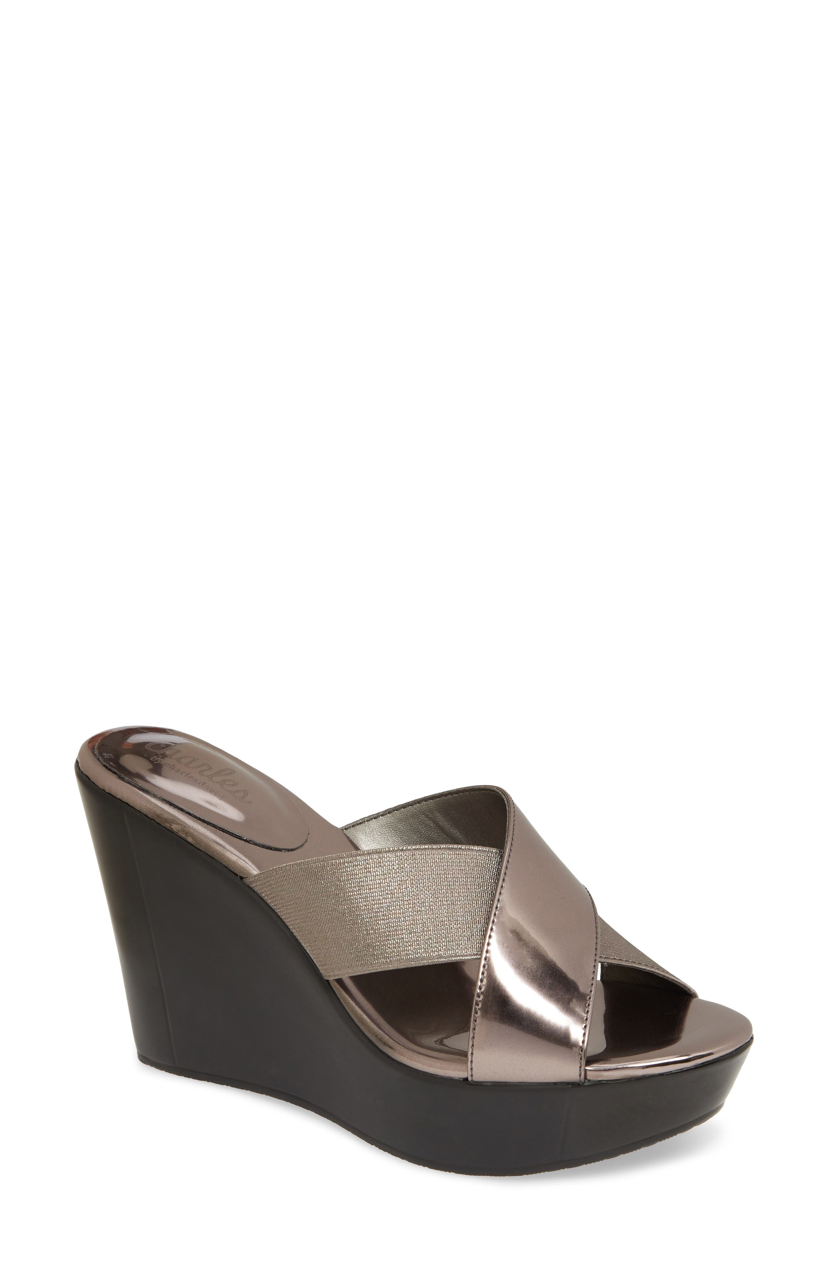 Charles By Charles David Fuzho Platform Wedge Sandal, Beige