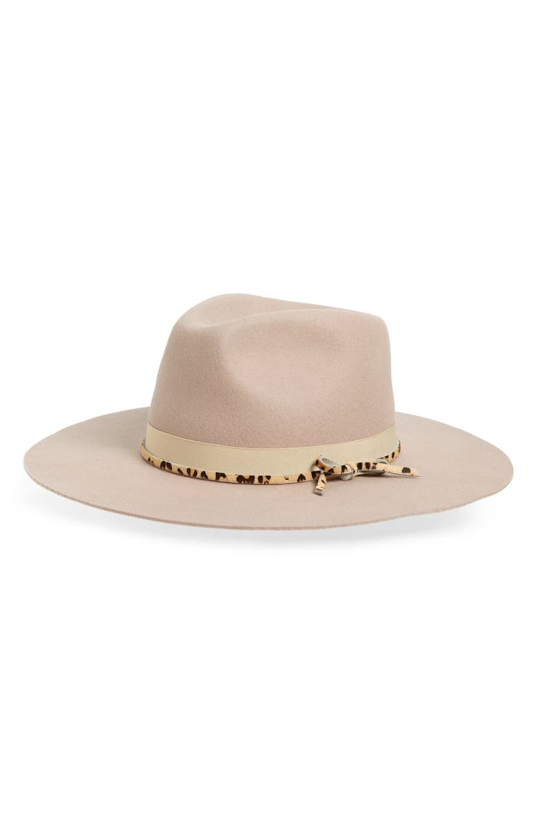 NOAKE Nelson High Crown Wool Hat, Main, color, TAN