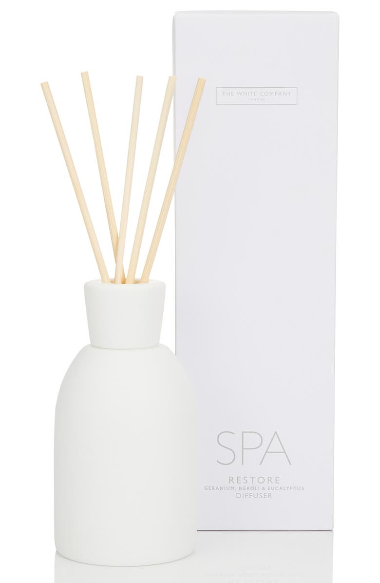 THE WHITE COMPANY Spa Restore Reed Diffuser, Main, color, WHITE