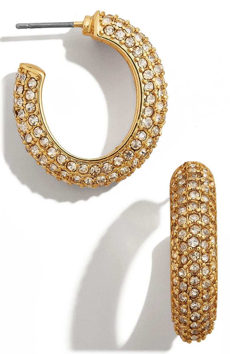 BAUBLEBAR Marciella Hoop Earrings, Main, color, GOLD/ YELLOW