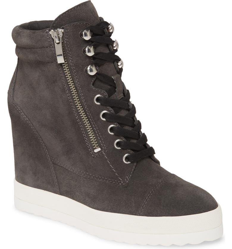 PAIGE Zoe Wedge Sneaker, Main, color, GREY