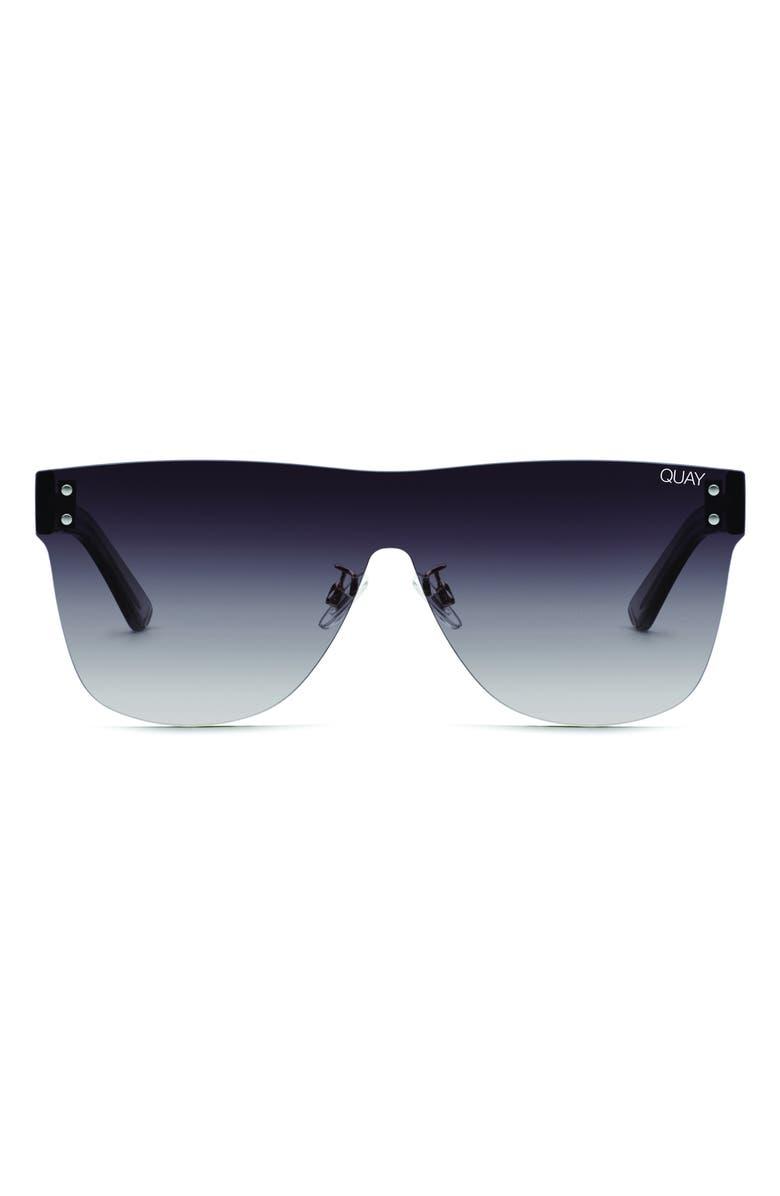 QUAY AUSTRALIA Phantom 55mm Shield Sunglasses, Main, color, 001