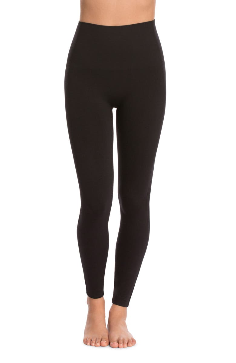 SPANX<SUP>®</SUP> Look at Me Now' Seamless Leggings, Alternate, color, VERY BLACK