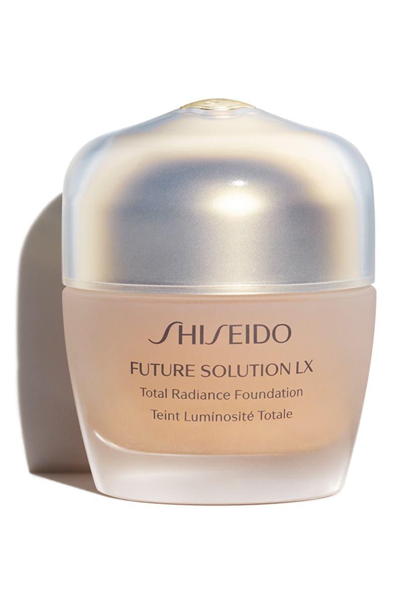 SHISEIDO Future Solution LX Total Radiance Foundation Broad Spectrum SPF 20 Sunscreen, Main, color, GOLDEN 1