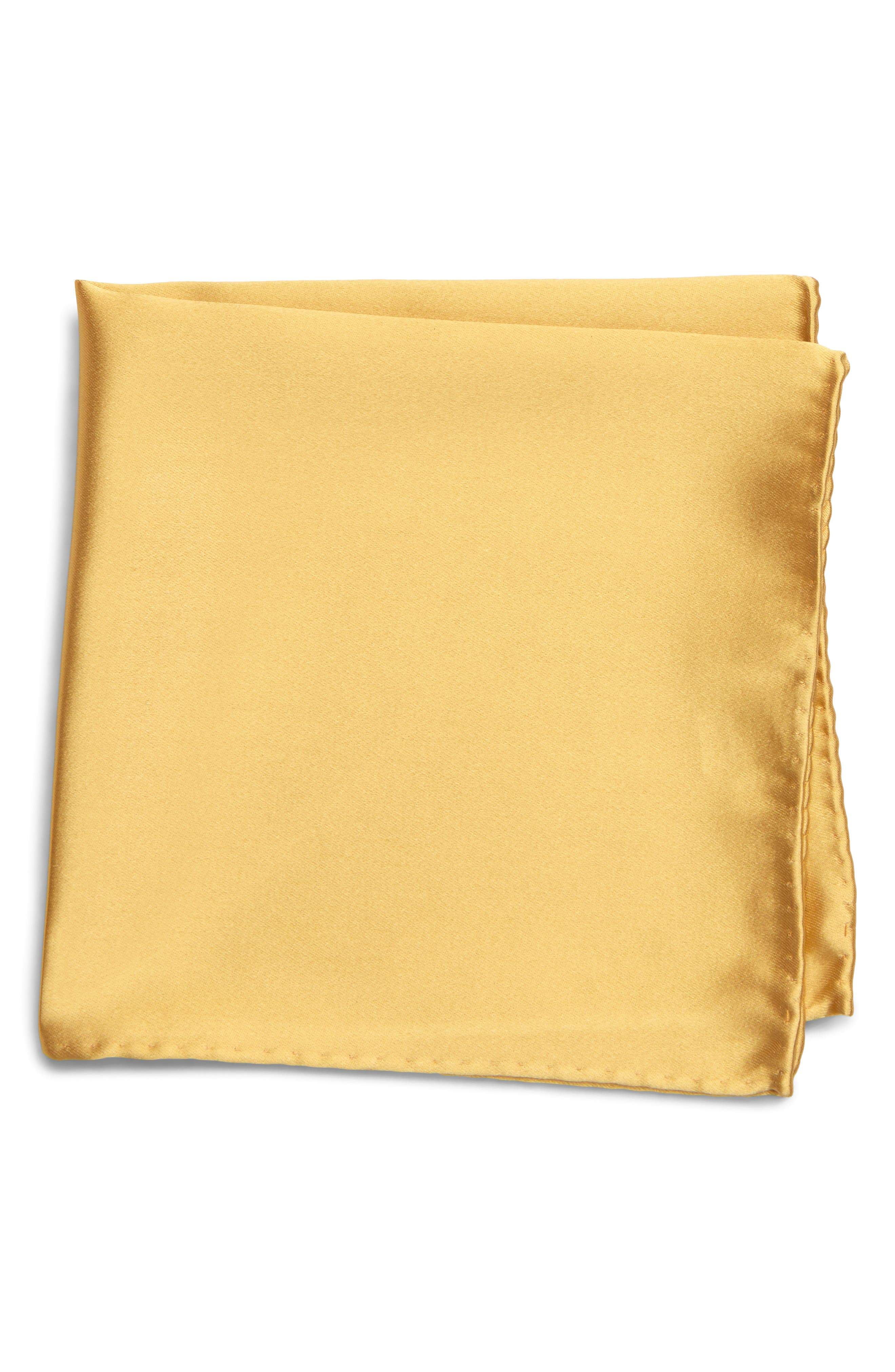 A satin sheen defines a charming pocket square cut from pure silk. Style Name: Nordstrom Men\\\'s Shop Solid Silk Pocket Square. Style Number: 5934373 2. Available in stores.