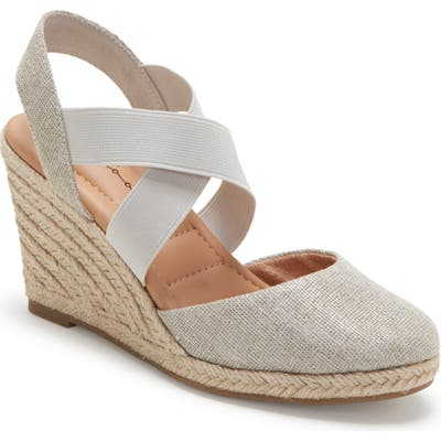 Me Too Brinley Espadrille Wedge, Metallic