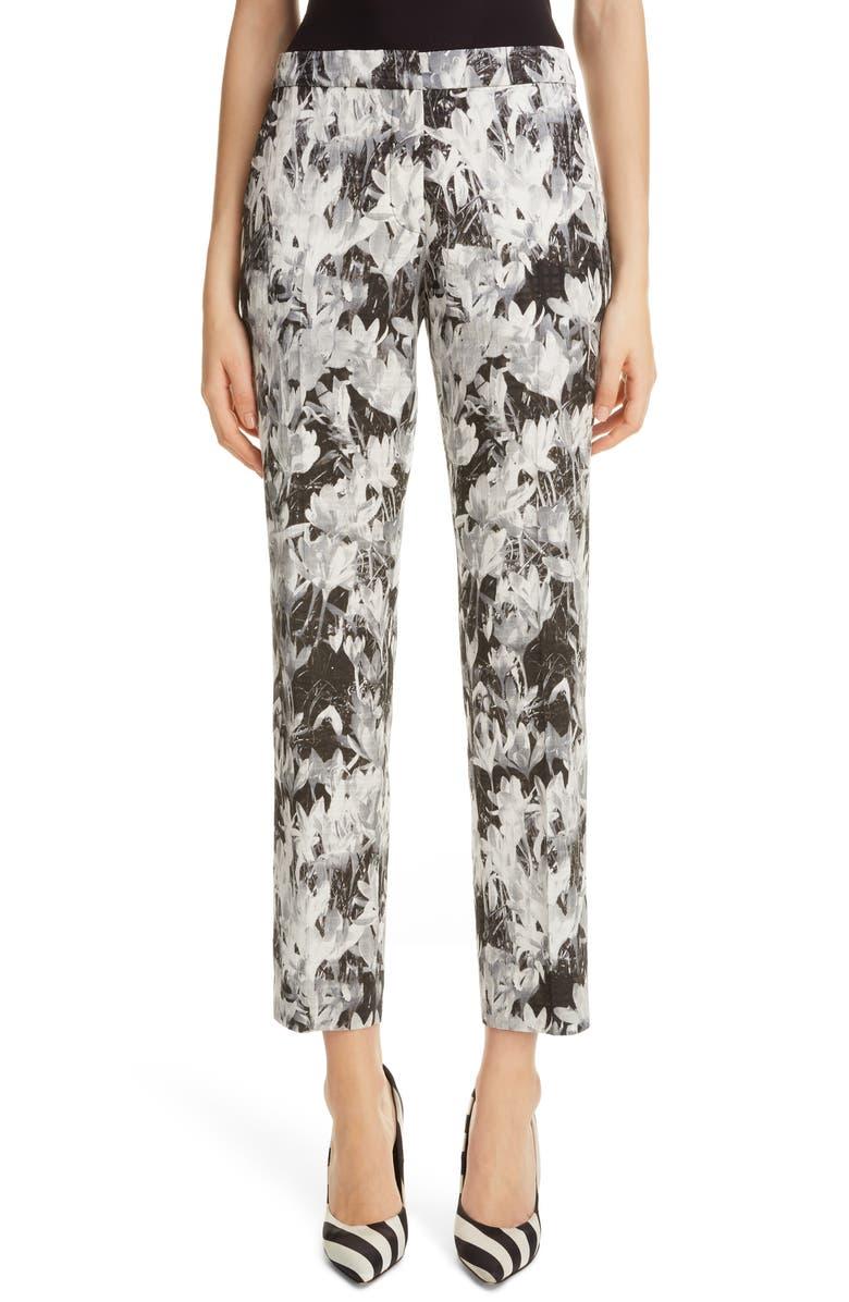 DRIES VAN NOTEN Crocus Print Pants, Main, color, 001
