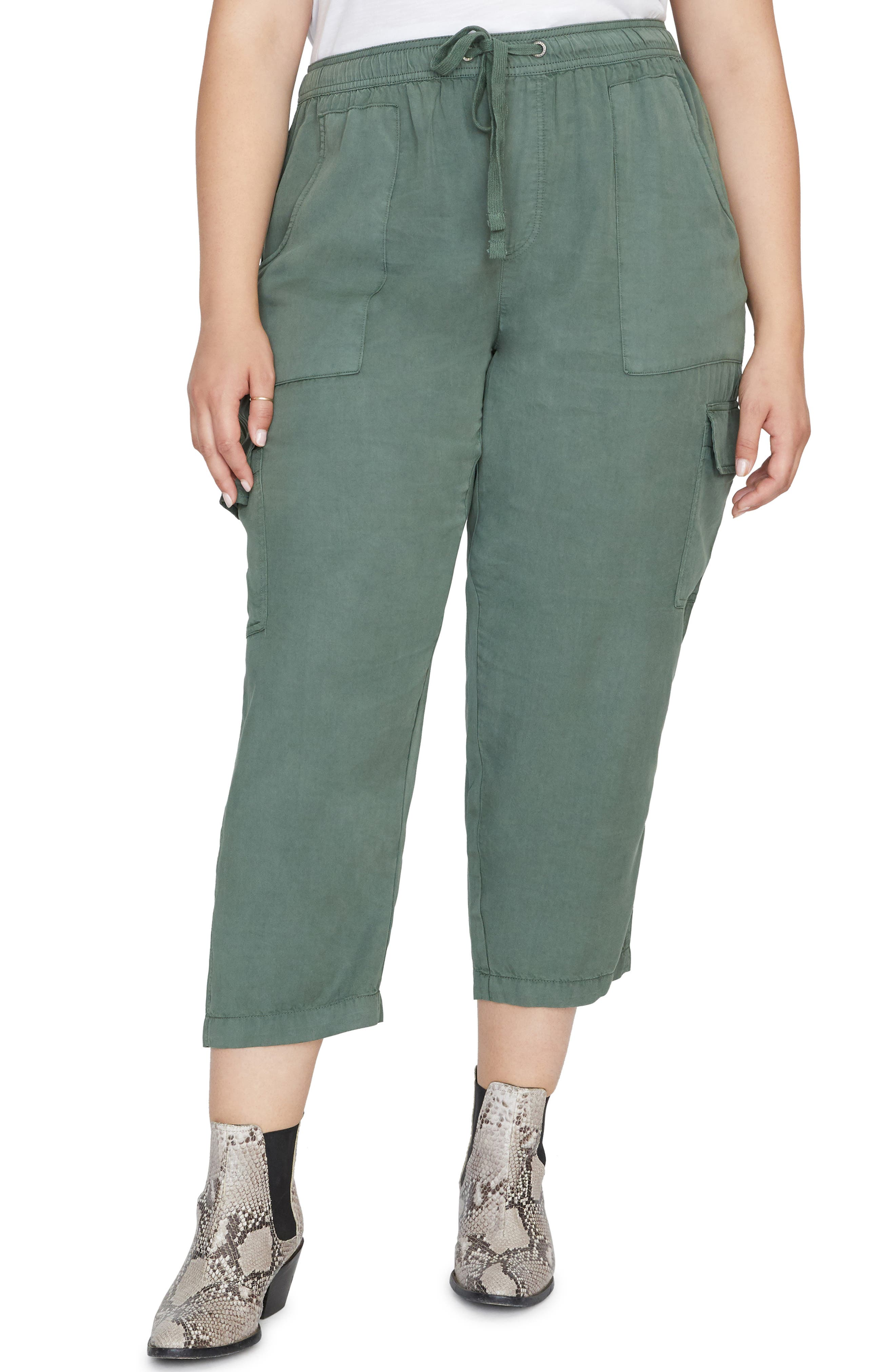 Plus Size Sanctuary Discoverer Pull-On Cargo Pants, Green