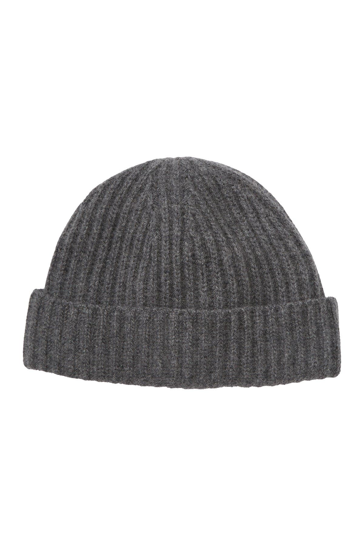 Image of Portolano Cashmere Ribbed Cuffed Beanie