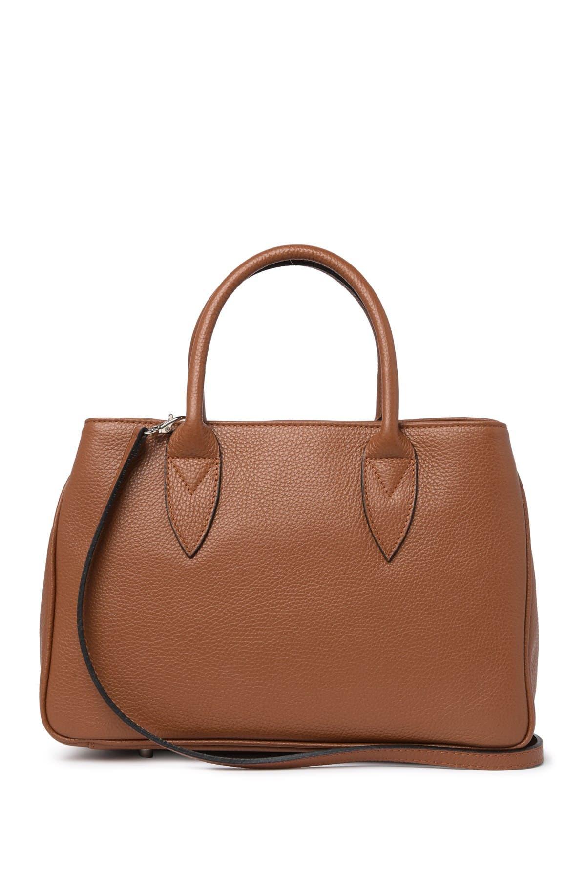 Image of Anna Luchini Leather Shopper Bag
