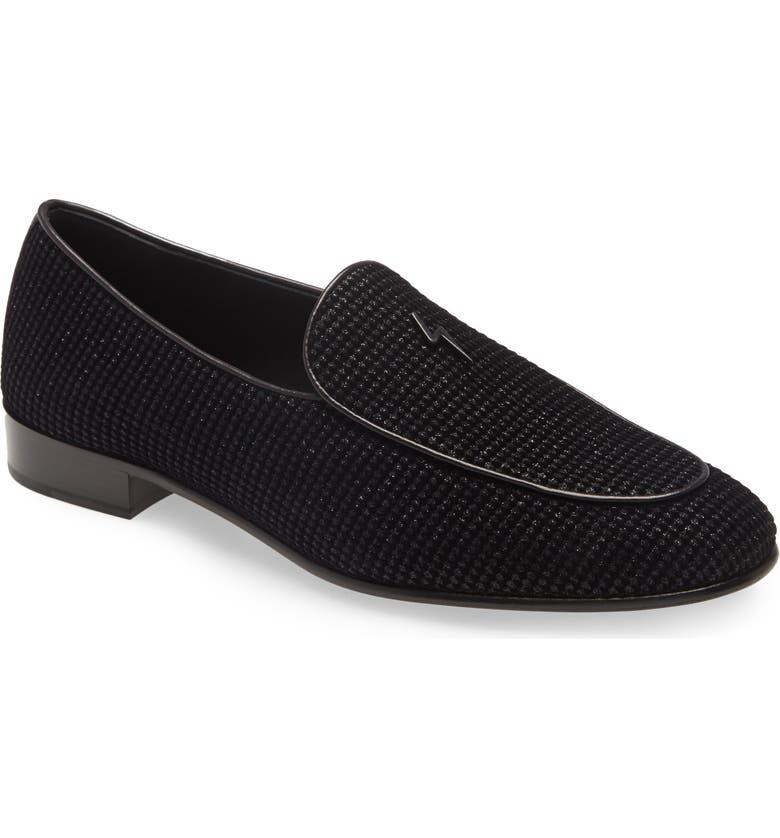 GIUSEPPE ZANOTTI Glitter Loafer, Main, color, 001