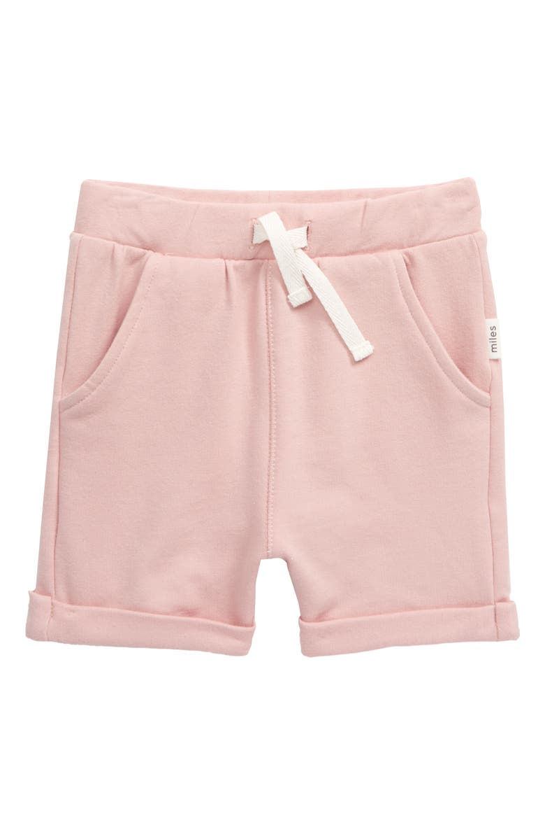 MILES baby Knit Shorts, Main, color, LIGHT PINK