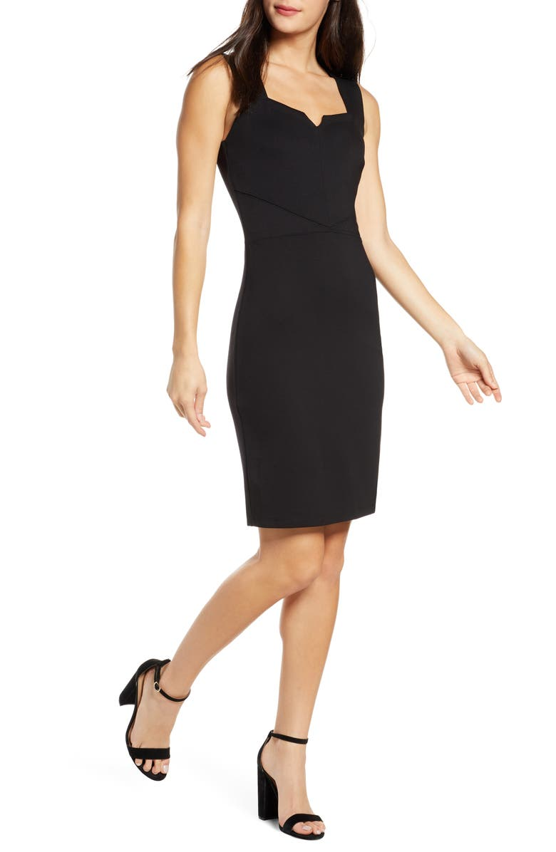 ALI & JAY Aspiring Actress Sheath Dress, Main, color, BLACK