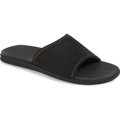 Olukai Alania Slide Sandal, Black