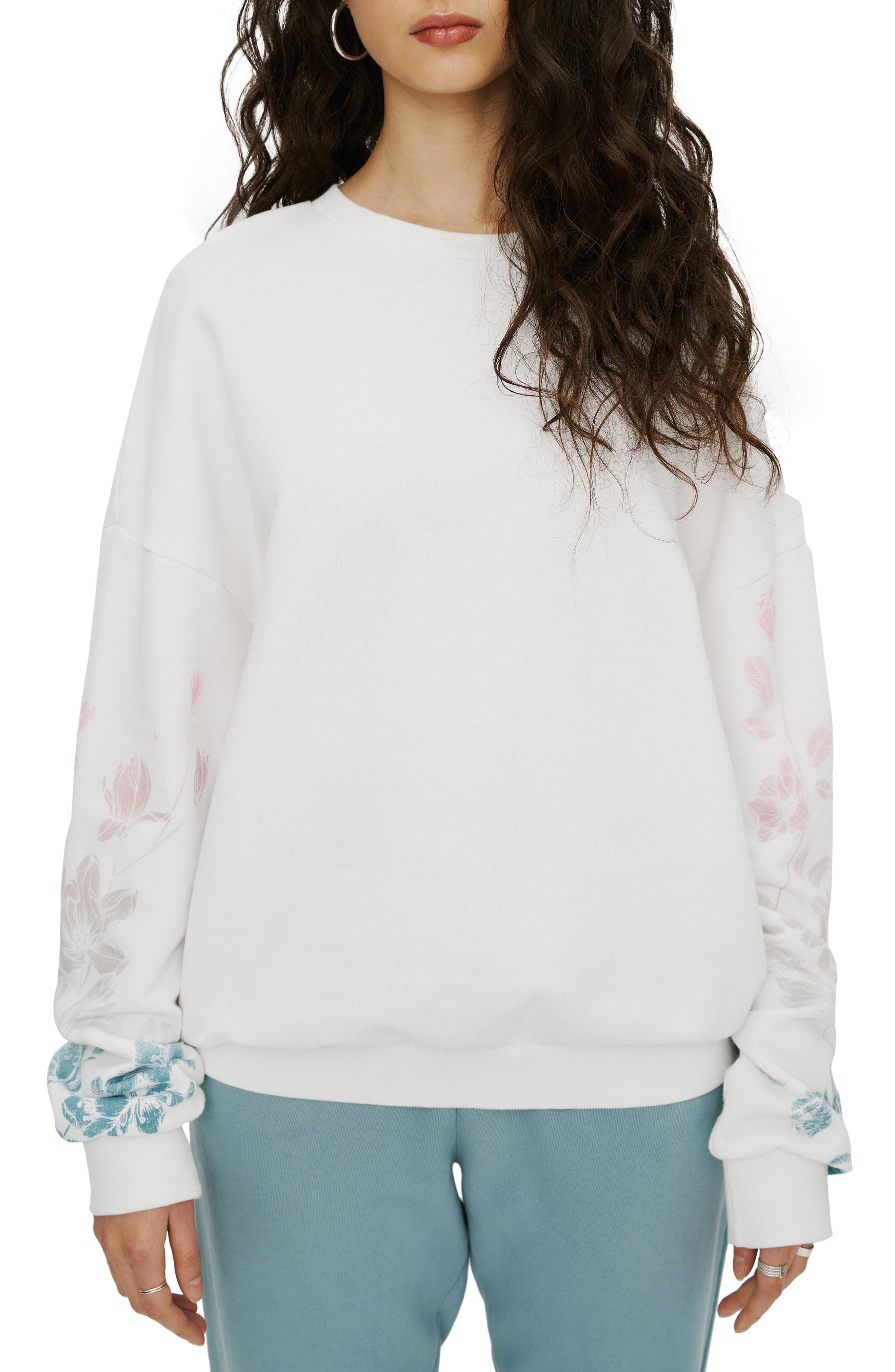 Floral & Logo Graphic Sweatshirt