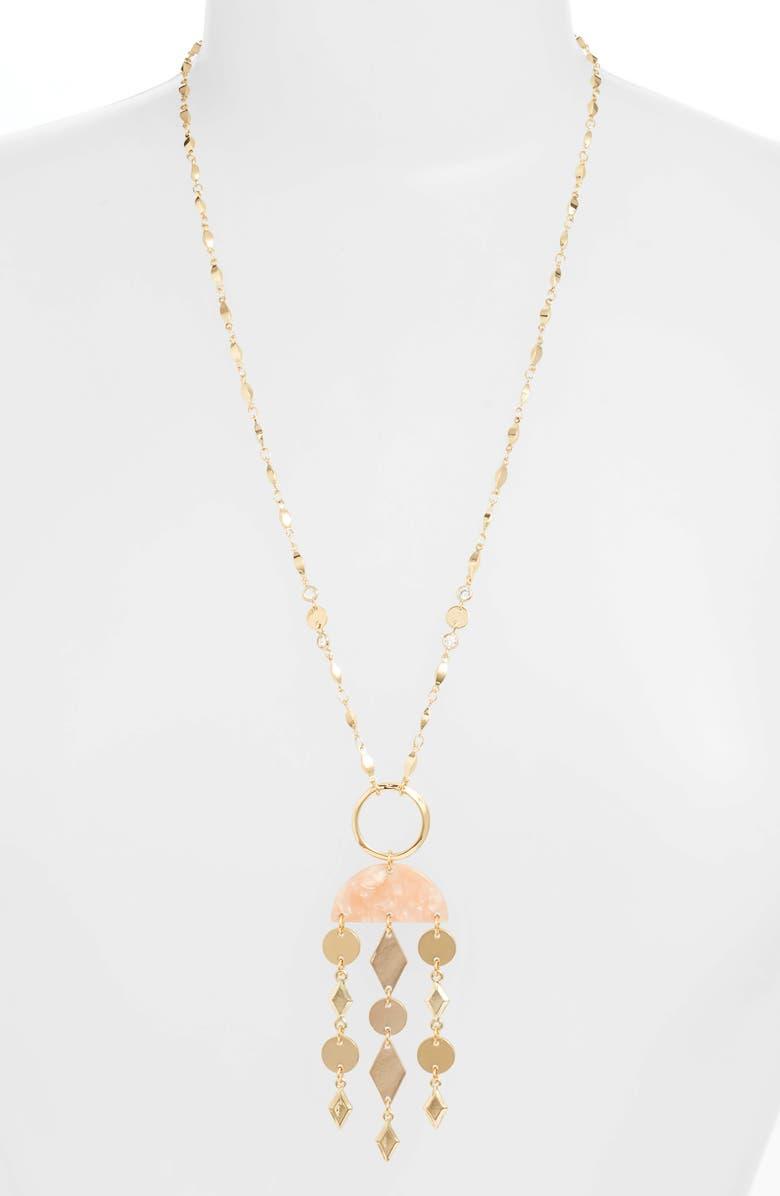 ETTIKA Chain Pendant Necklace, Main, color, PINK/ GOLD