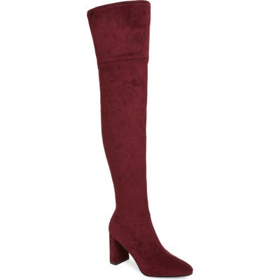 Jeffrey Campbell Parisah Over The Knee Boot- Burgundy