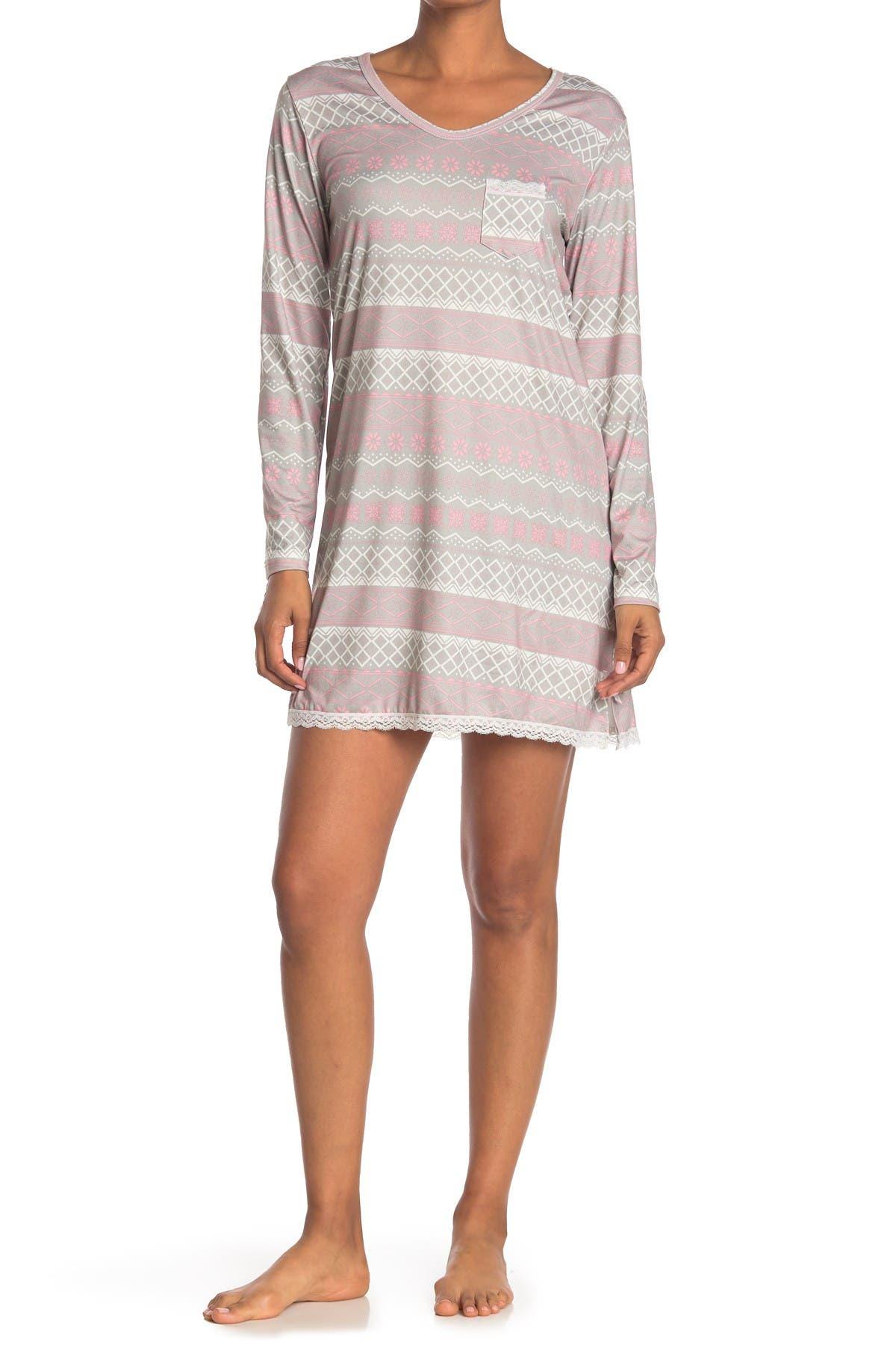 Image of Kathy Ireland Printed Sleep Shirt