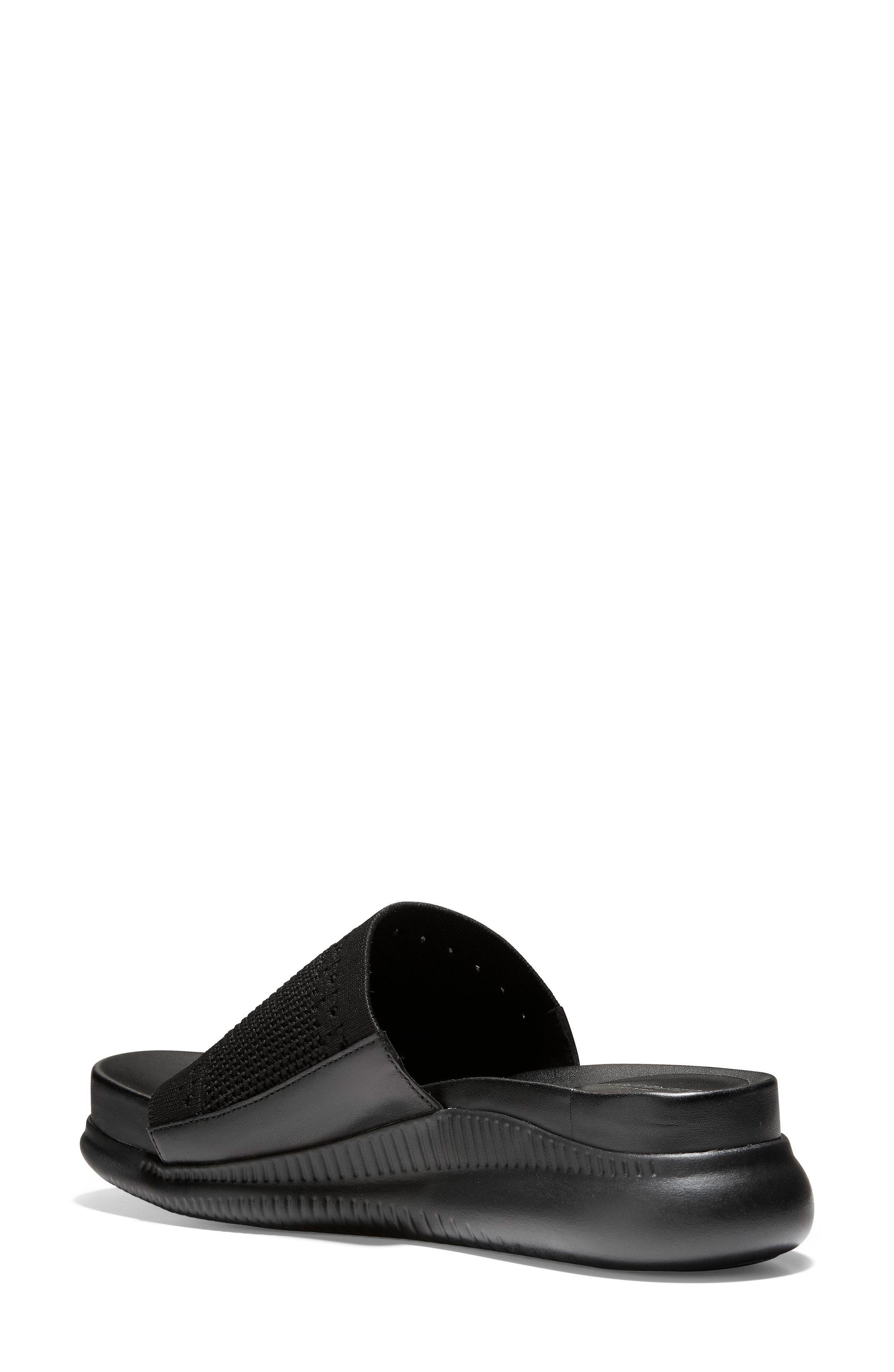 ,                             2.Zerogrand Stitchlite<sup>™</sup> Slide Sandal,                             Alternate thumbnail 2, color,                             BLACK LEATHER