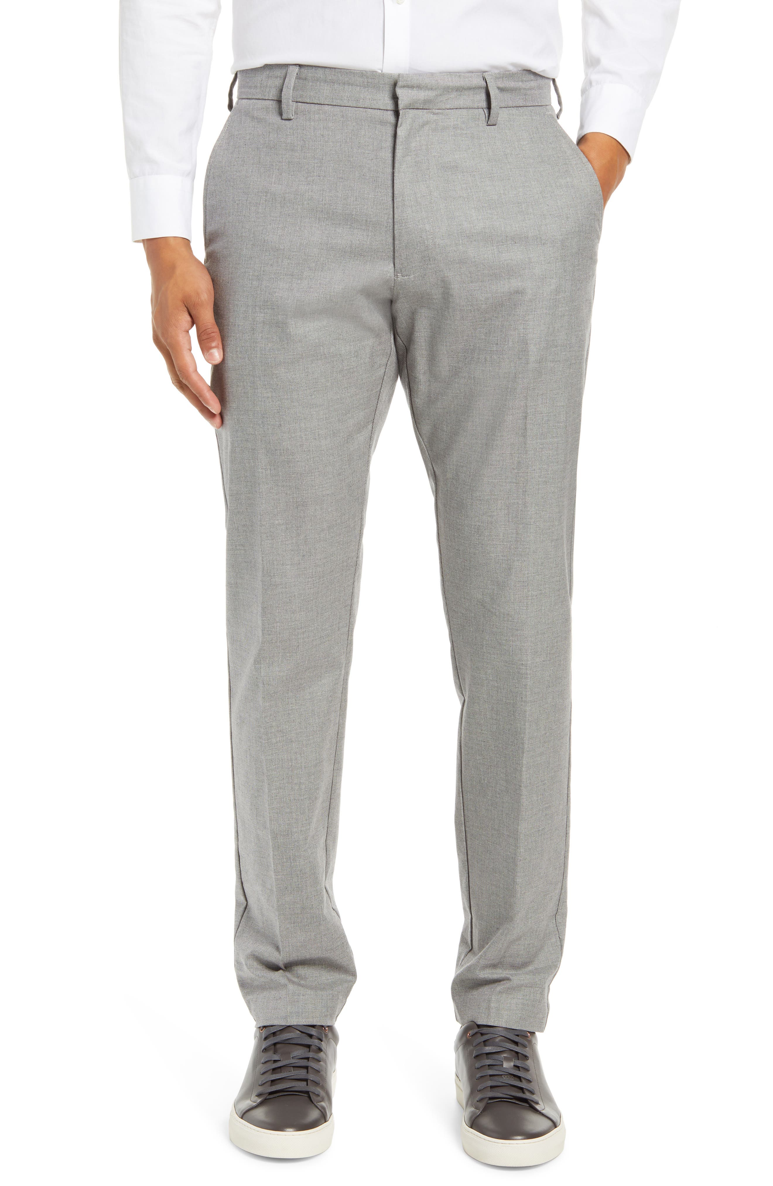 Image of NORDSTROM MEN'S SHOP Non-Iron Athletic Fit Textured Pants