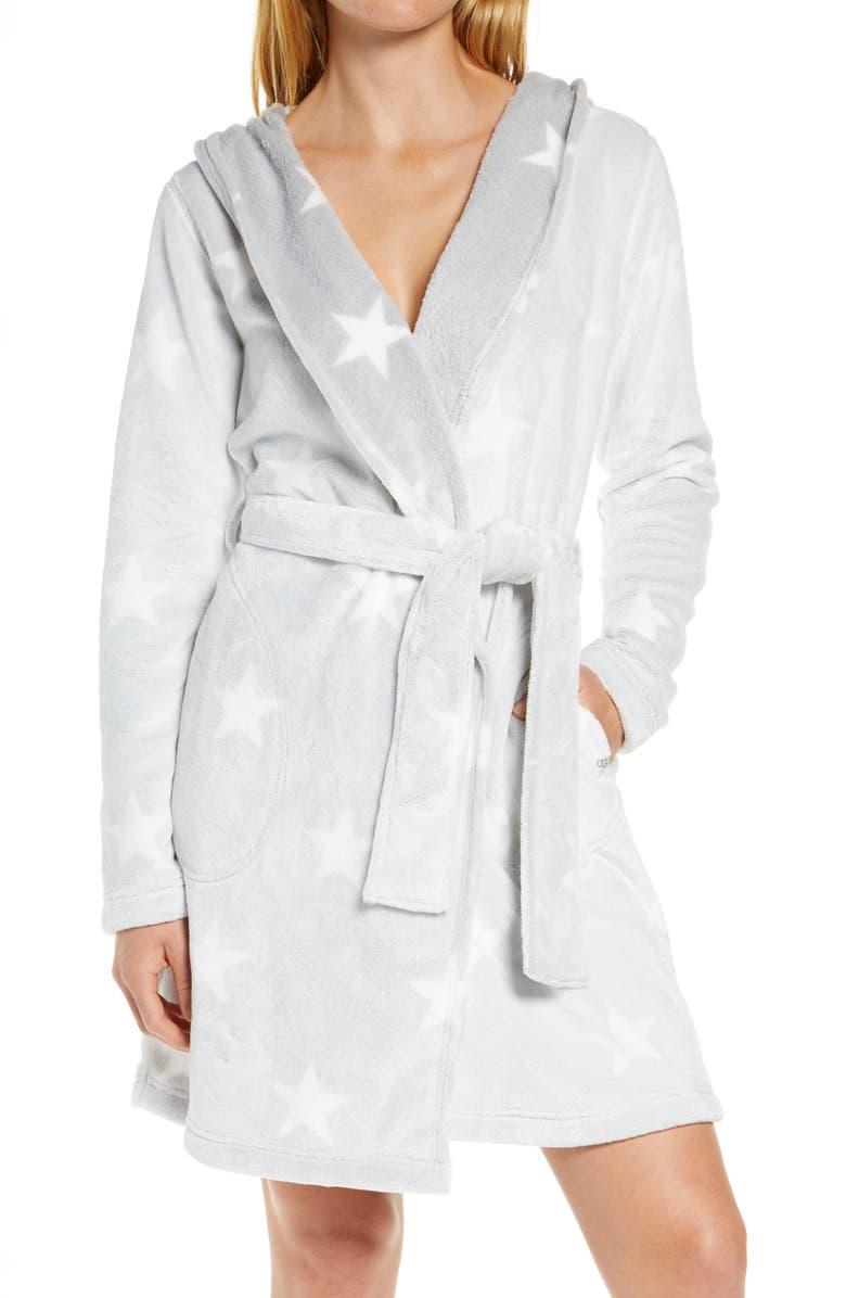 UGG<SUP>®</SUP> Miranda Robe, Main, color, GREY / WHITE STARS