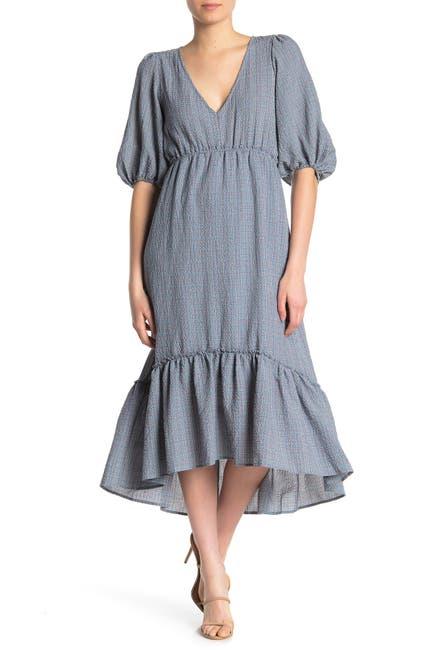 Image of SUPERFOXX Elbow Sleeve High/Low Ruffle Dress