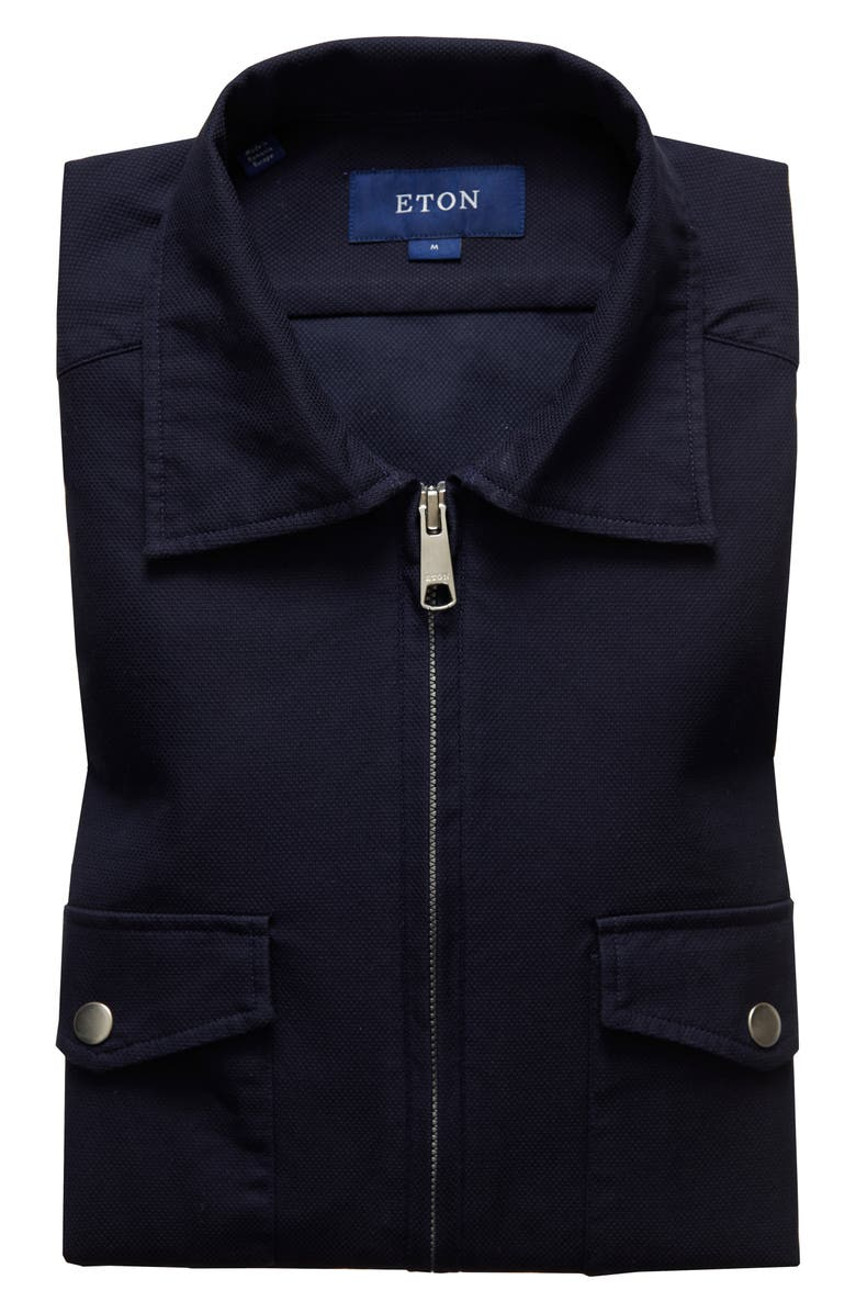 ETON Soft Casual Line Contemporary Fit Casual Overshirt, Main, color, BLUE