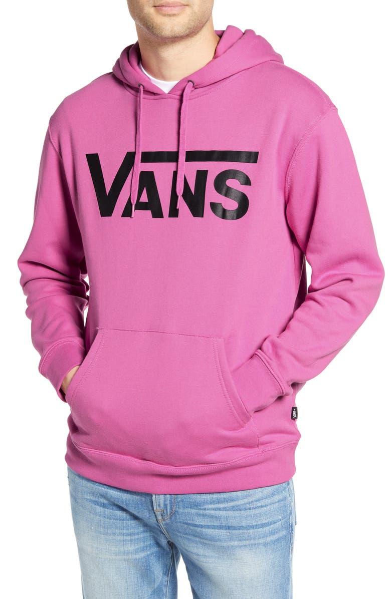 VANS Classic PO II Hooded Sweatshirt, Main, color, ROSEBUD