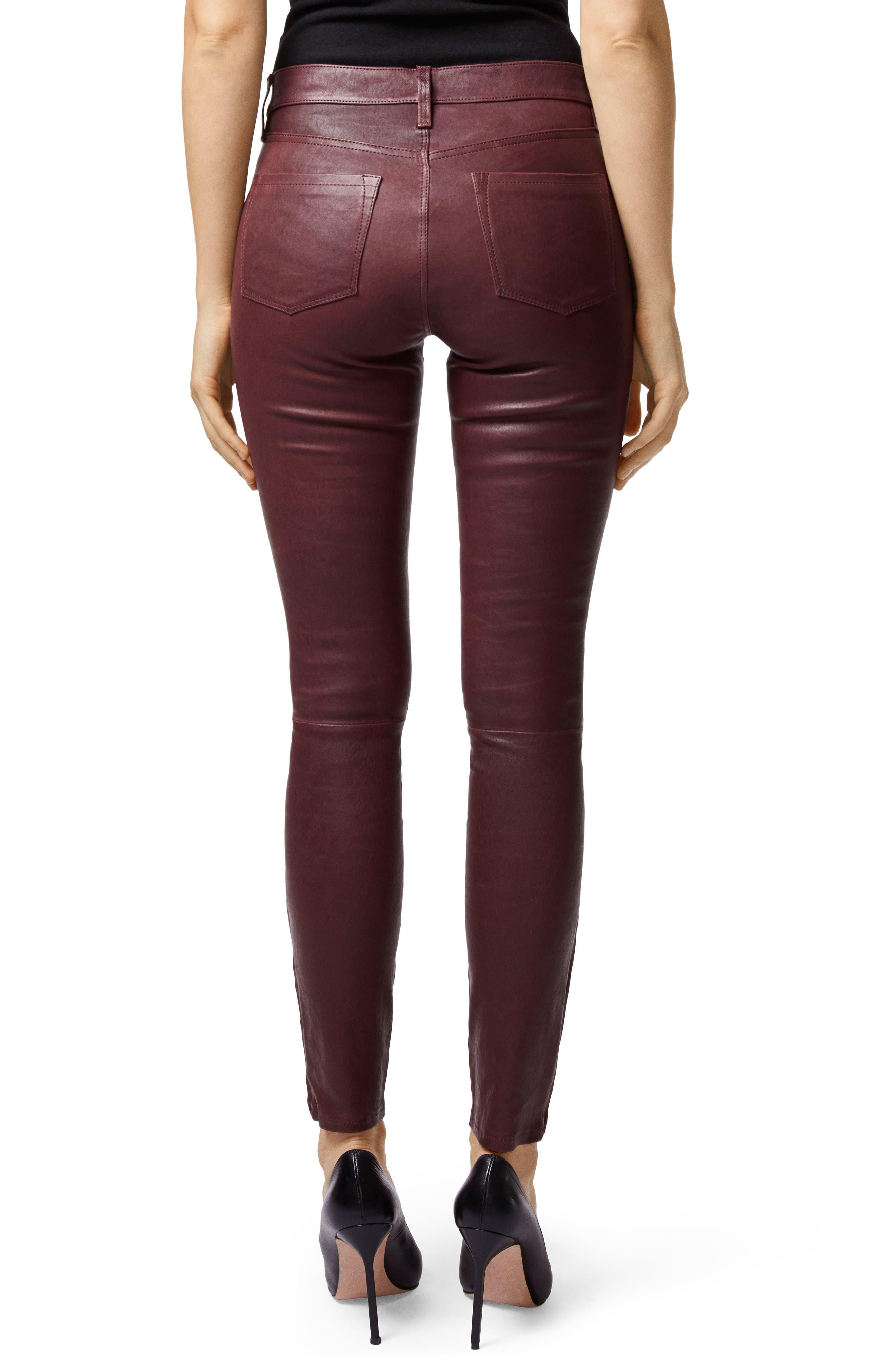 ,                             '8001' Lambskin Leather Pants,                             Alternate thumbnail 2, color,                             510