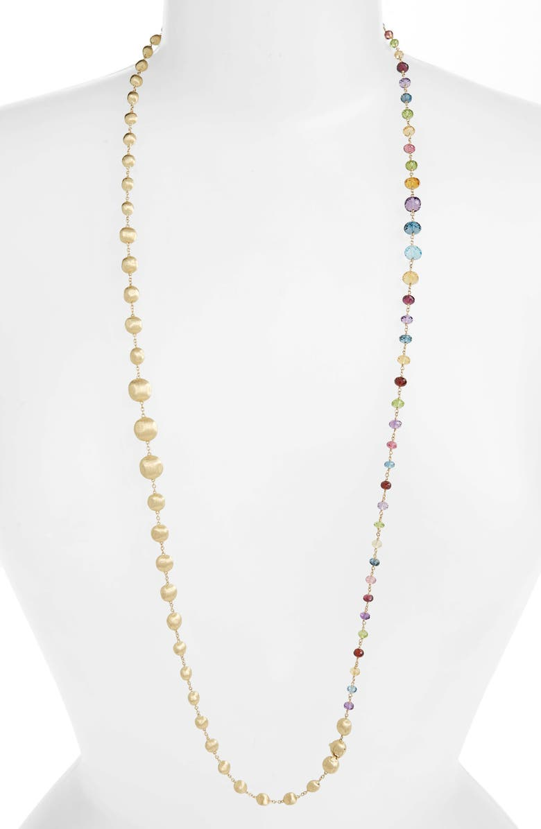 MARCO BICEGO Africa Semiprecious Stone Long Strand Necklace, Main, color, YELLOW GOLD