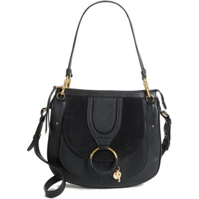 See By Chloe Hana Leather Shoulder Bag - Black