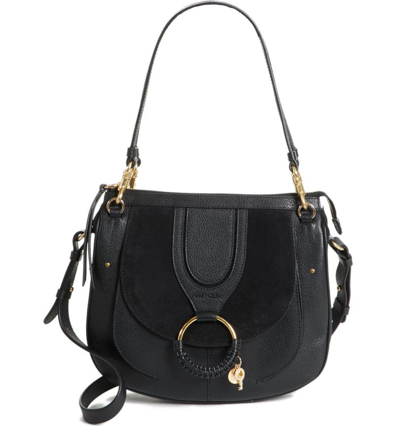 SEE BY CHLOÉ Hana Leather Shoulder Bag, Main, color, 001