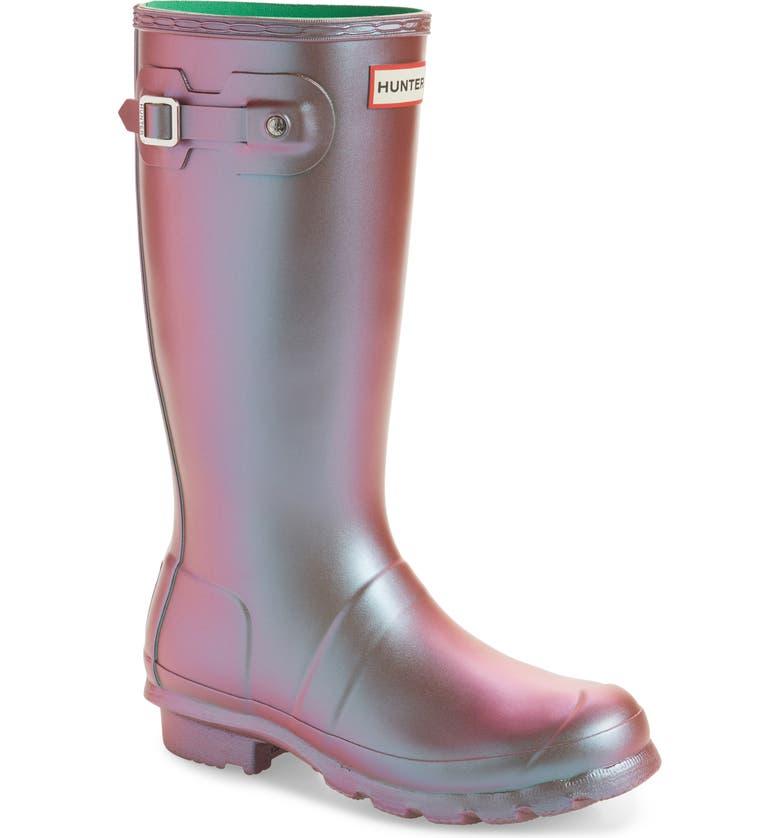 HUNTER Original Nebula Waterproof Rain Boot, Main, color, ELEMENT